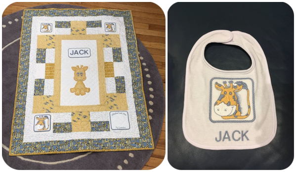 Quilt and Bib by Annemarie