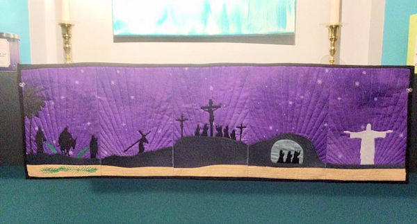 Resurrection Table Runner Embroidey Design by Kay