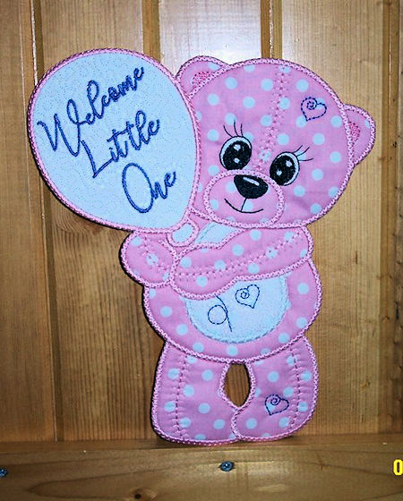 Large Teddy Applique announcement