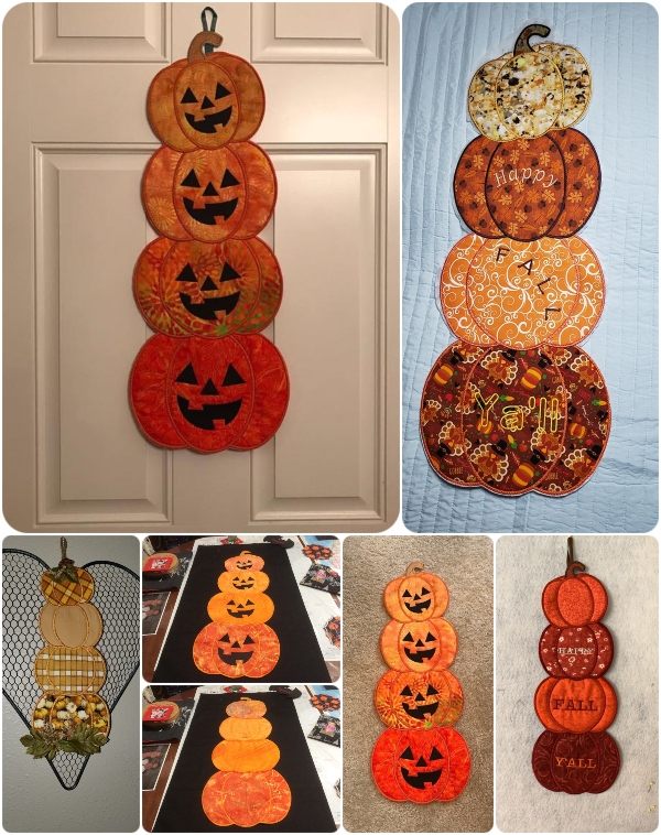 Stacked Pumpkins In the hoop
