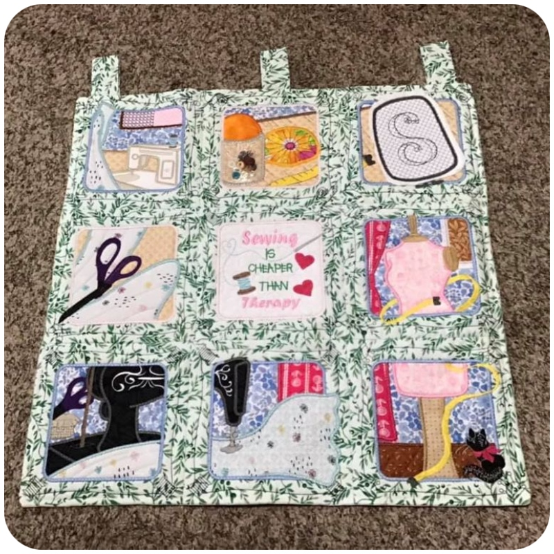 Suzi - Sewing is Therapy Wall Hanging