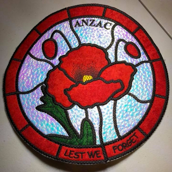 In the hoop Anzac Placemat
