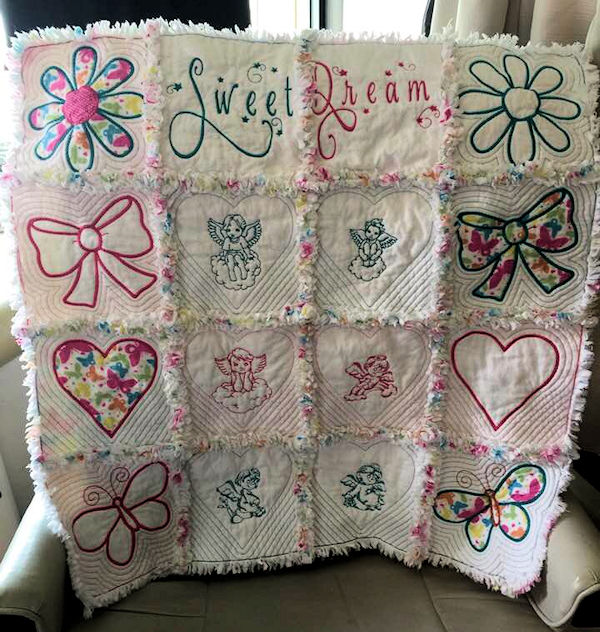 Mini Raggy Quilt