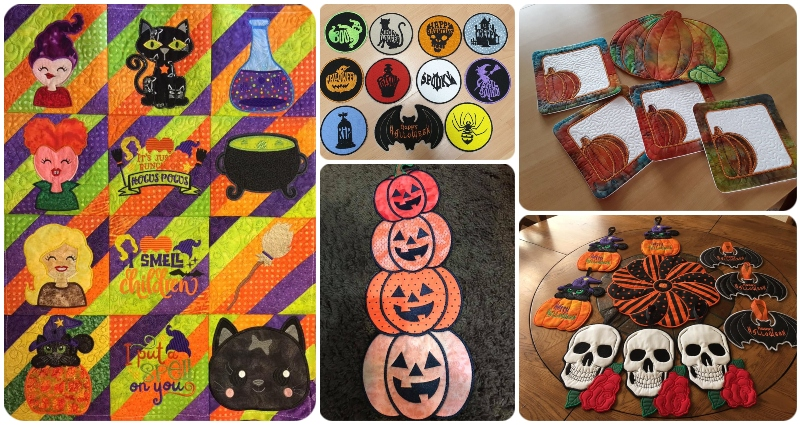 View more Halloween Machine Embroidery Samples by Kreative Kiwi - 800