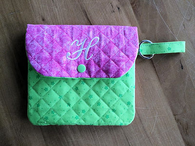 In the hoop Quilted Bag