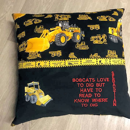 Digger Reading Pillow