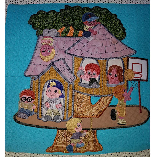 Boy Treehouse Cushion
