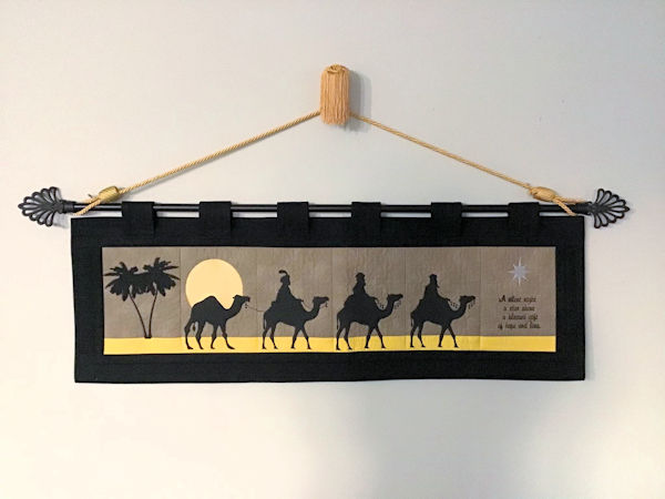 We Three Kings Wall Hanging Sample by Darina