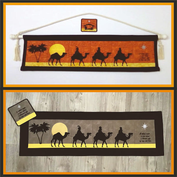 We Three Kings Wall Hanging by Kays Cutz - 600