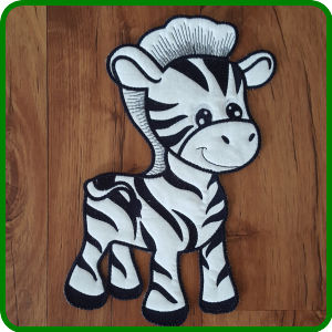 Large Zebra Applique