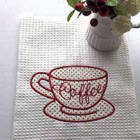 Free Applique Coffee Cup