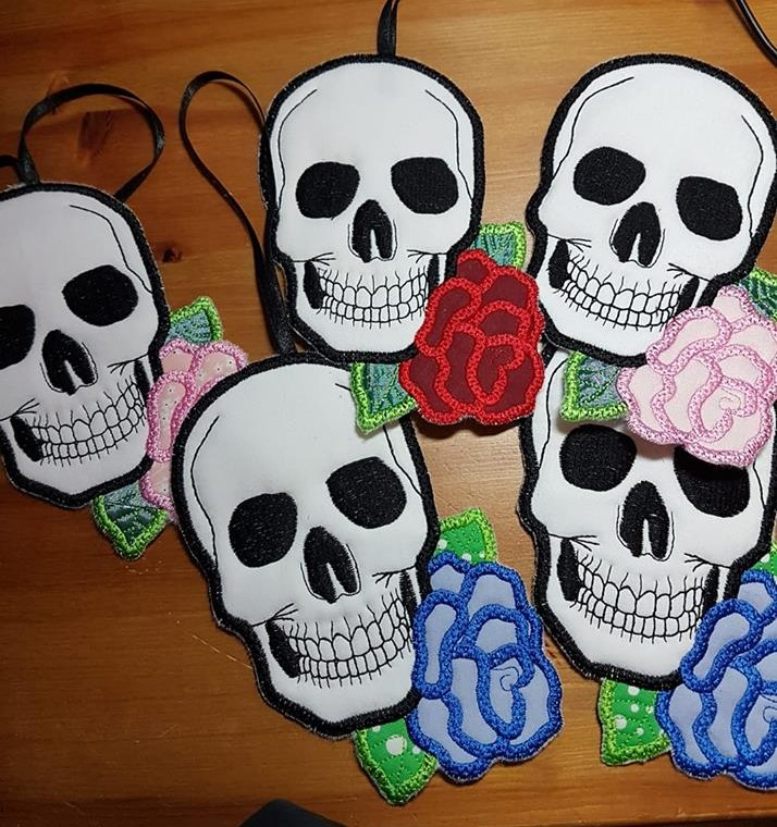 In the hoop Skull Coasters