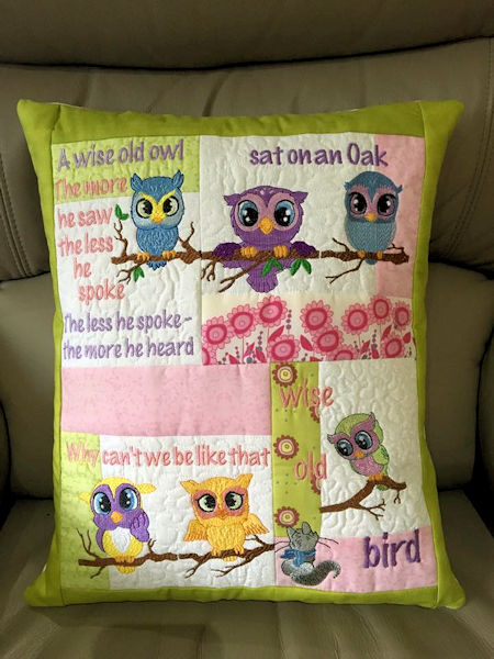 Wise Old Owl Cushion