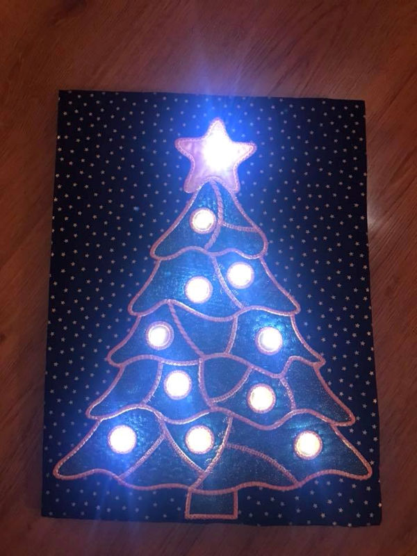 Crazy Patch Christmas Tree by Cathy