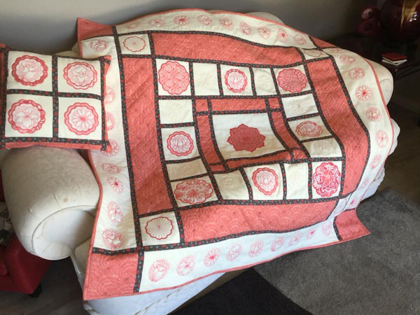 Coral Fleece and Flannel Quilt