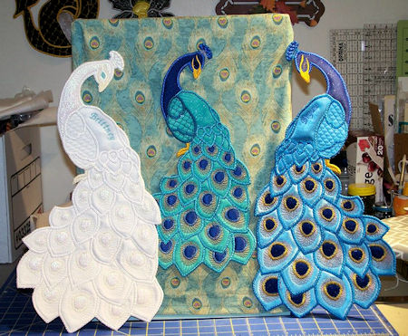 Large Applique Peacock
