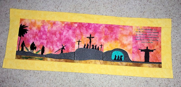 Resurrection Table Runner Embroidey Design by Sandy