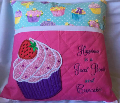Cupcake Reading Pillow