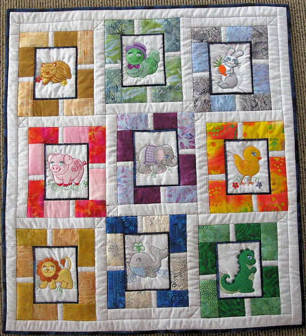 Machine Embroidery Animal Quilt