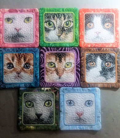 In the hoop Cat Coasters