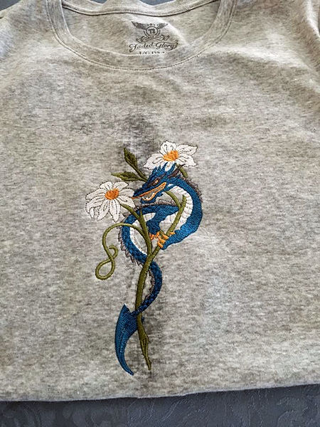 Flower Dragon T-Shirt