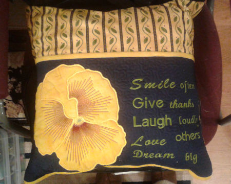 Pansy Reading Pillow