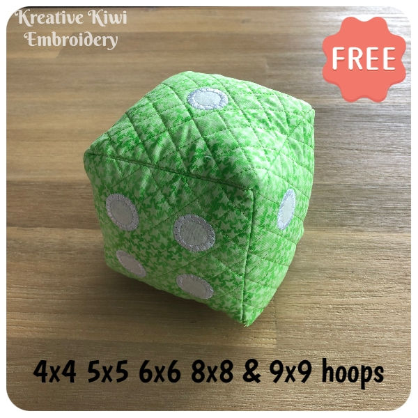 Free Dice Machine embroidery design by Kreative Kiwi Embroidery - 600