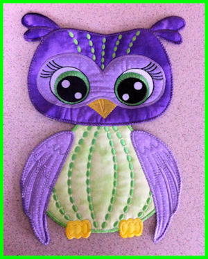 Large Owl Applique