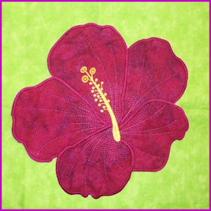 Large Hibiscus Applique