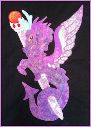 Large Dragon Applique