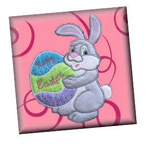 Large Easter Bunny Large Applique Machine Embroidery Design