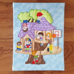 Boy Treehouse Applique
