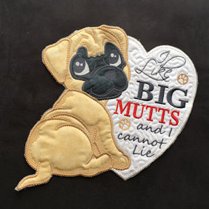 THE BUDDY COLLECTION - LARGE DOG APPLIQUE