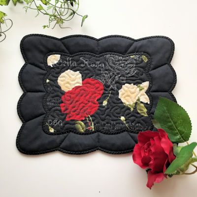 Rectangle Scalloped Coaster