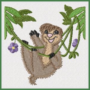 Free Jumping Jungle Machine Embroidery Designs