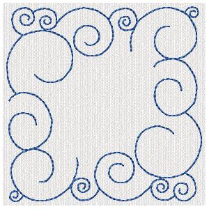 Free Curls Machine Embroidery