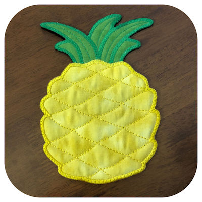 Free In the hoop Pineapple Coaster