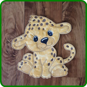 Large Leopard Applique