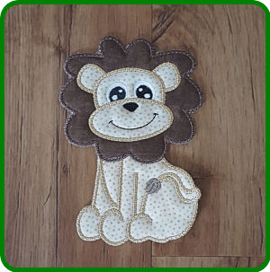 Large Lion Applique