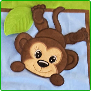 Large Monkey Applique