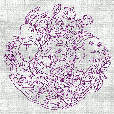 Free Redwork Easter Designs