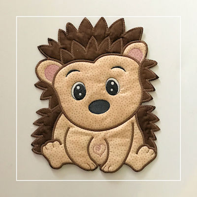 Large Hedgehog Applique