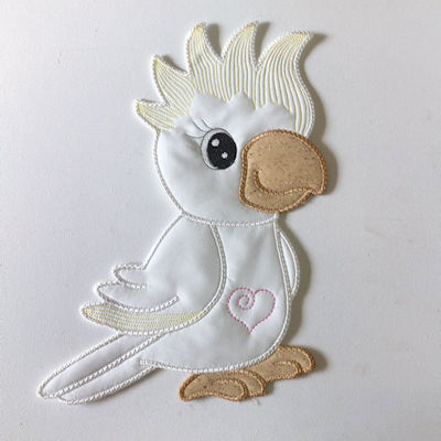 Large Cockatoo Applique