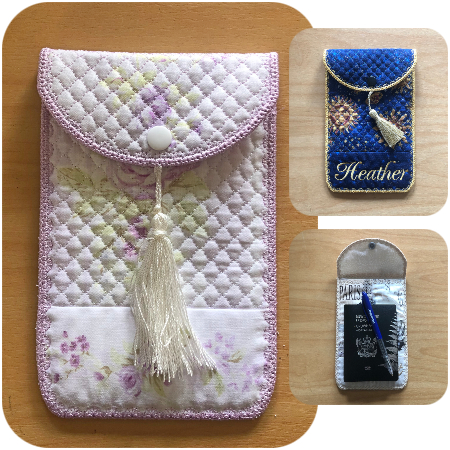 In the hoop Phone Case or Passport Holder