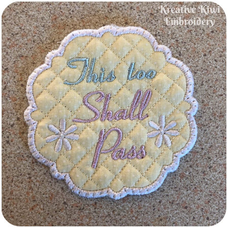 Free This Too Shall Pass Coaster