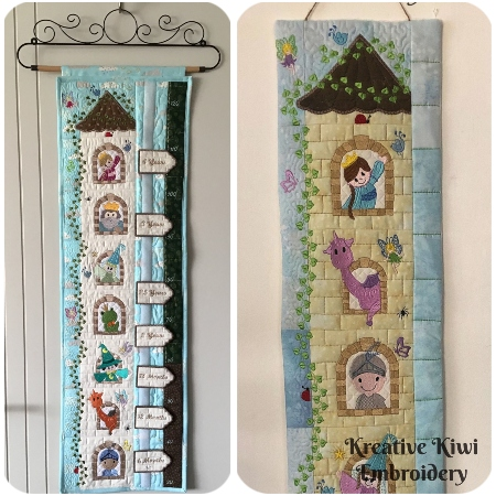 Fairytale Castle Growth Chart or Wall Hanging