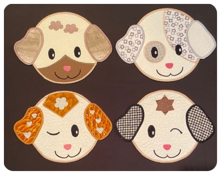 In the hoop Puppy Coasters