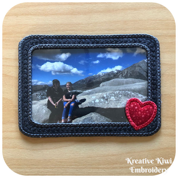 Free In the hoop Photo Frame by Kreative Kiwi