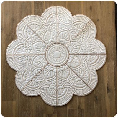 Large Mandala Flower Placemat - One thread version A