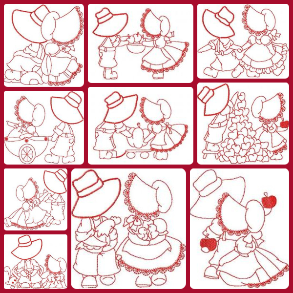 Free Subonnet Friends Embroidery Design